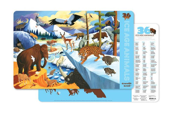 Crocodile Creek Placemat - Learning Place Mats for Kids