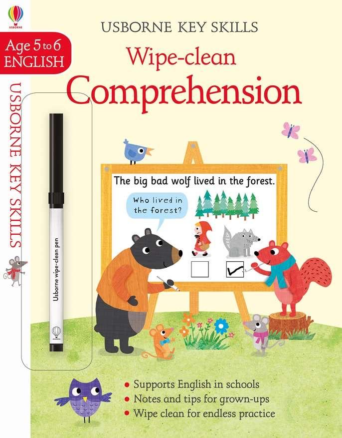 Usborne Wipe Clean Comprehension  Ages 5-6