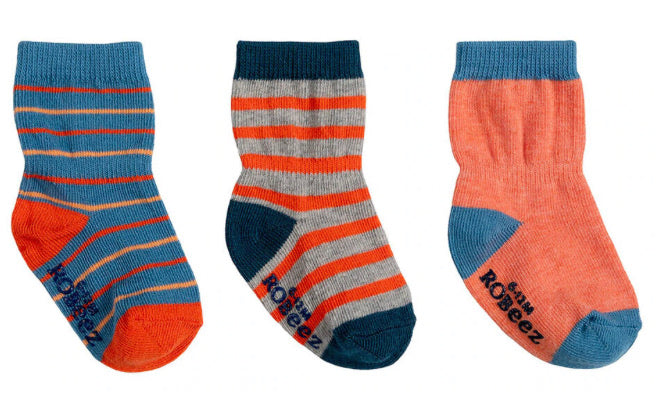 Robeez Infant Socks - Blue/Orange