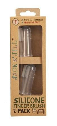 Jack n Jill Silicone Finger Toothbrush 2 Pack (6-18 months)