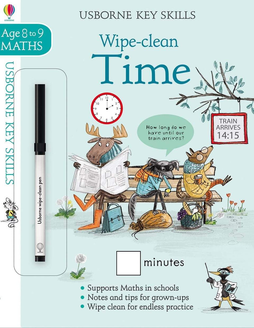 Usborne Wipe Clean Time - Math Ages 8 to 9 Years