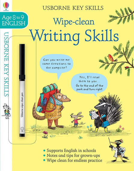 Usborne Wipe Clean Writing Skills - Age 8 to 9 English