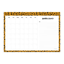 Afbeelding in Gallery-weergave laden, Monthly planner cheetah