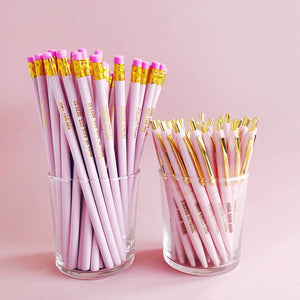 The pretty pink pencil set