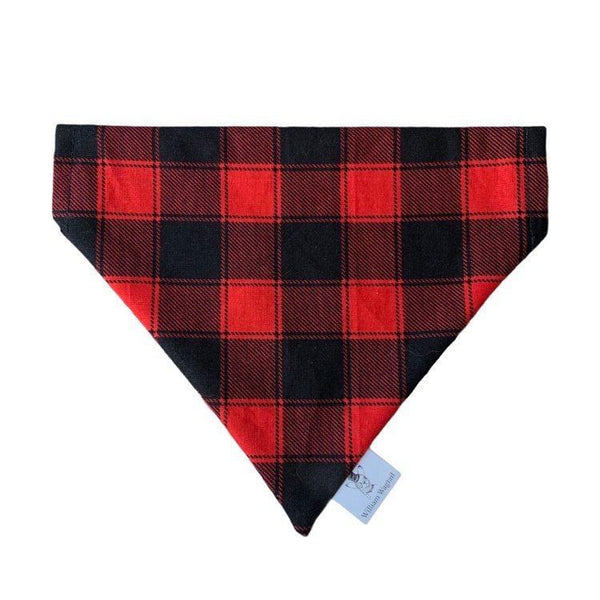 Classic Red Flannel Slip-On Bandana - William Wagtail