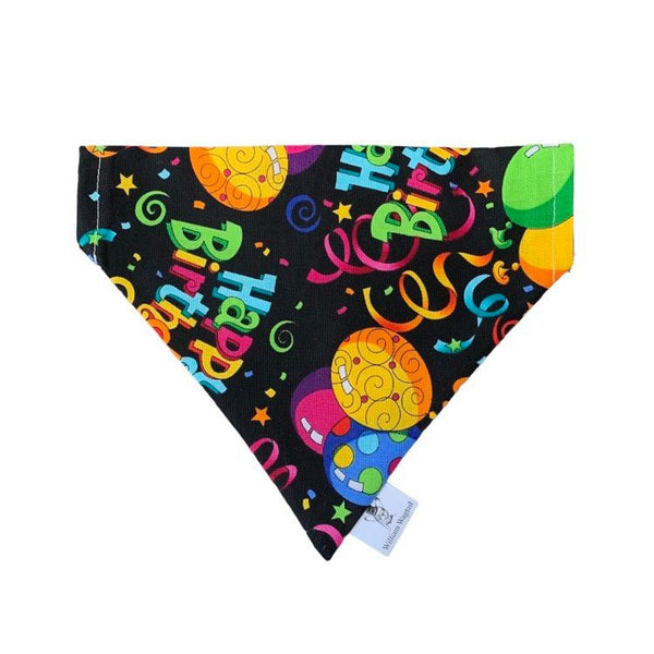 Birthday Balloons Slip-On Bandana - William Wagtail