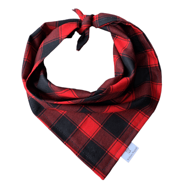 Classic Red Flannel Bandana - William Wagtail