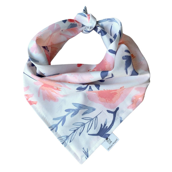 Aquarelle Pink Floral Bandana - William Wagtail