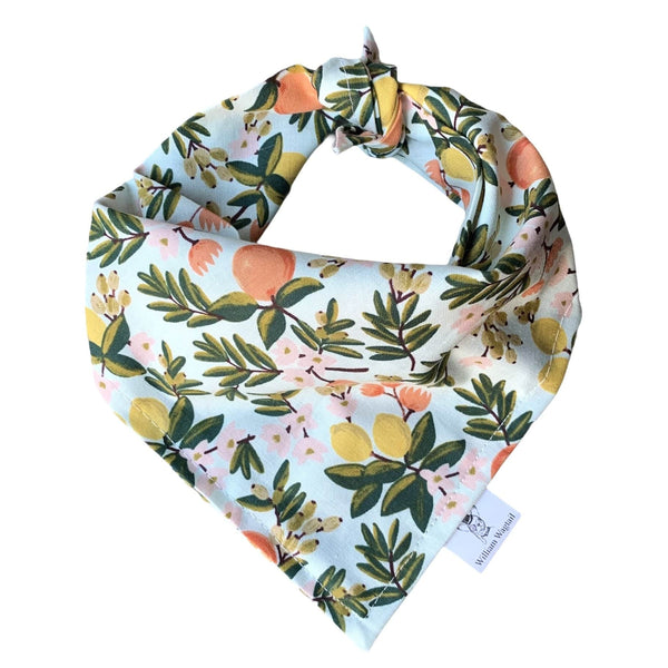 Citrus Floral Mint Bandana - William Wagtail