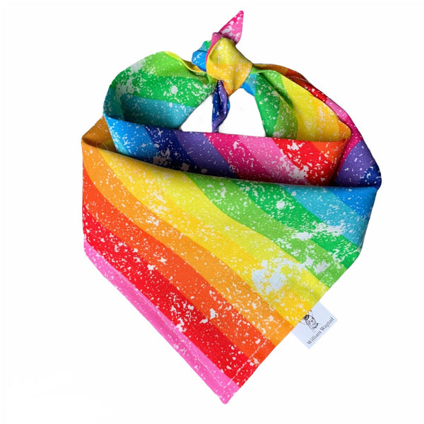 Vintage Rainbow Bandana - William Wagtail
