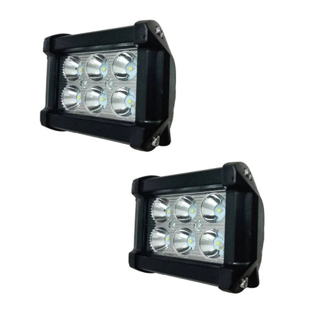 FARO BARRA 6 HYPERLEDS 18 Watts  RECTA ALUMINIO CLARA-AMBAR ESTROBO (9x8 cms) 12 Volts CHINA/25