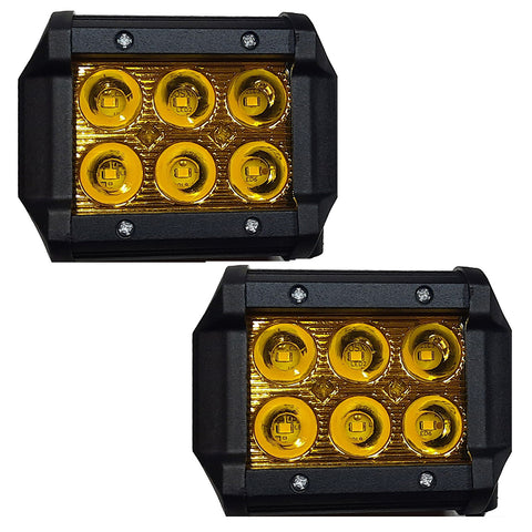 FARO BARRA 6 HYPERLEDS 18 Watts RECTA ALUMINIO AMARILLA ESTROBO UP & DOWN (9x8 cms) 450 Lm CHINA/25