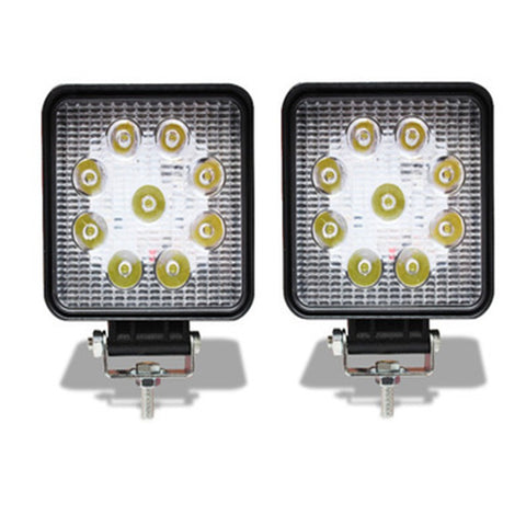FARO 9 LED BCO/AMBAR MINI
