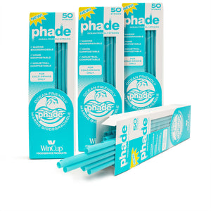 "7.75"" Jumbo Eco-STRAWS - Four 50 ct phade Boxes"