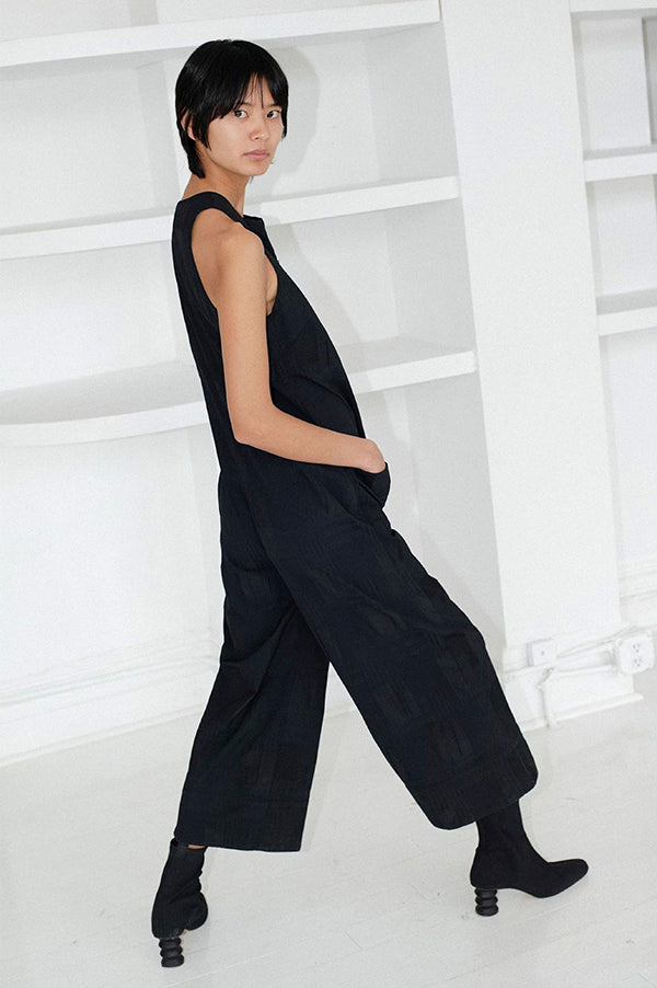 Zip Front Cropped Jumpsuit