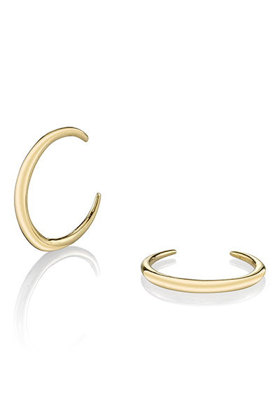 14K Mini Rising Tusk Earrings