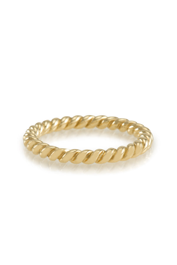 14K Yellow Gold Twist Ring