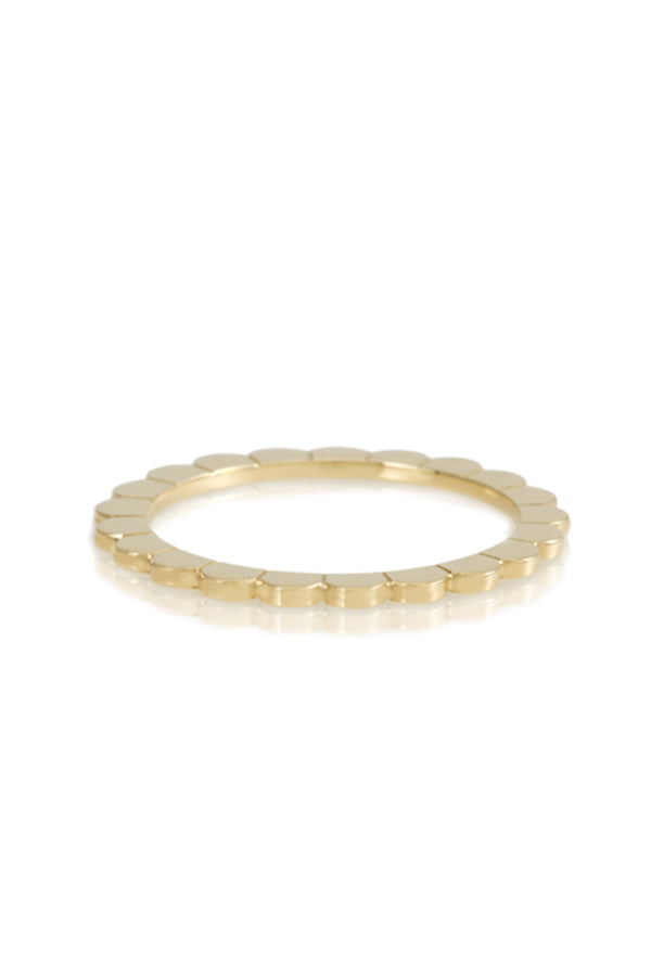 18K Yellow Gold Scalloped Ring