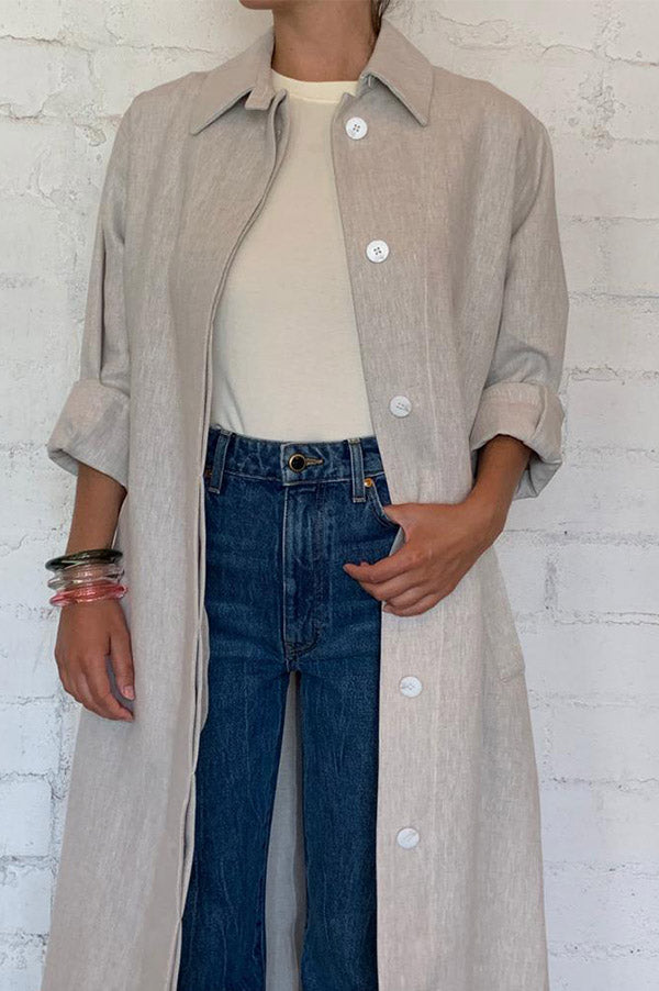 Hemp Slit Back Duster