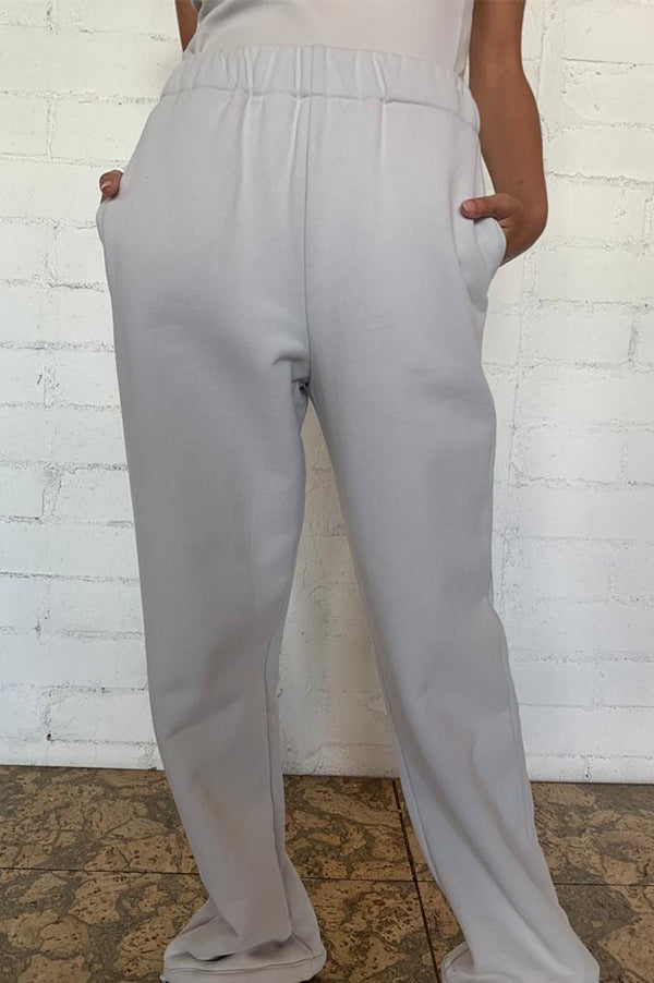 Stone High Waisted Sweatpants