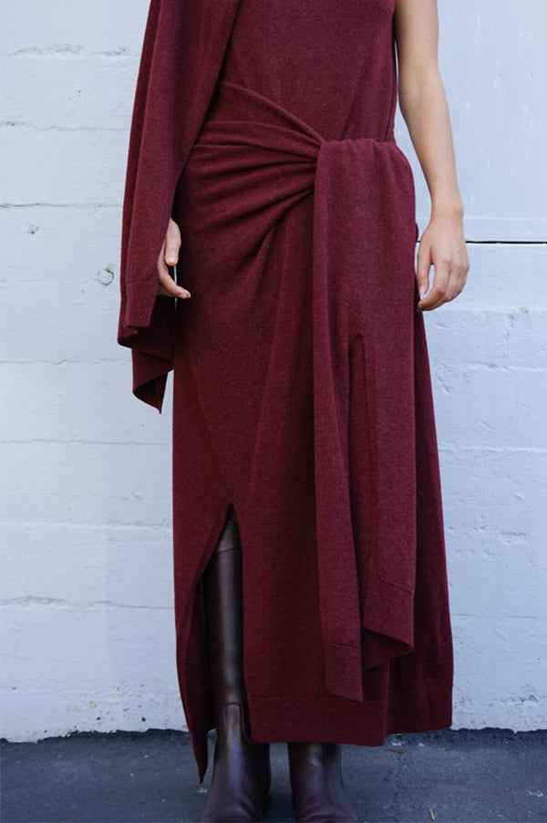 KAMAYA Draped Knit Runway Dress