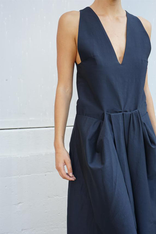 OLENA Sleeveless Jumpsuit with Flap