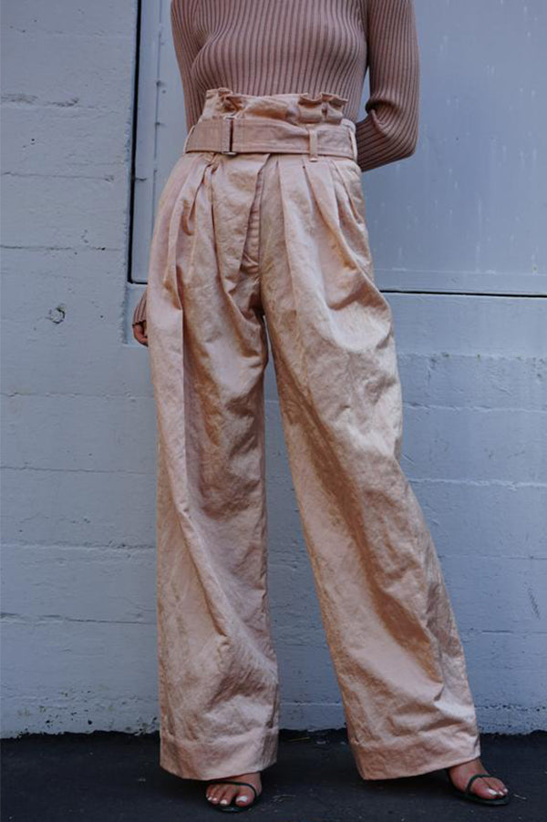 PARI Ruffled Wide Trousers