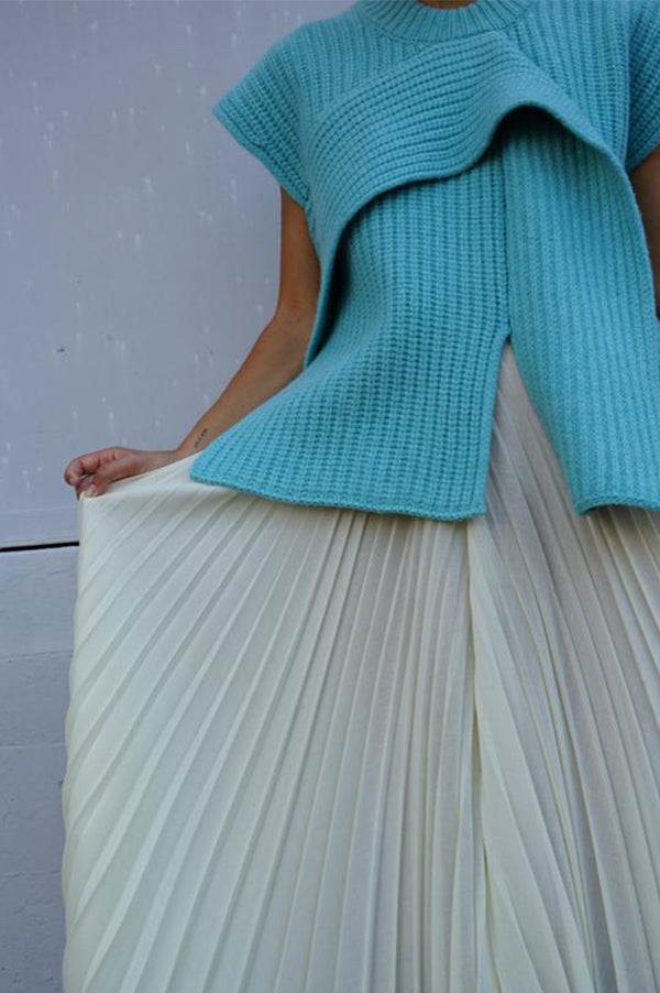 Pleated High Waist Skirt Pant