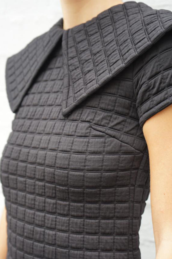 Quilted Knit Dress