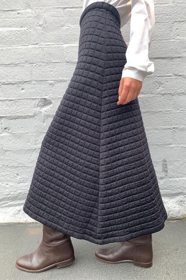 Quilted Knit Skirt