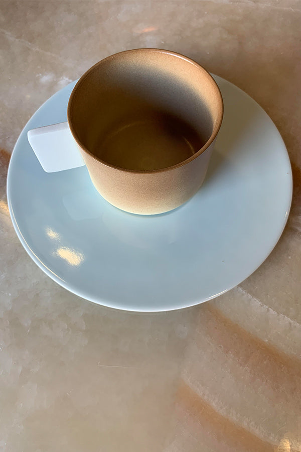 S&B Light Brown Coffee Cup with Saucer