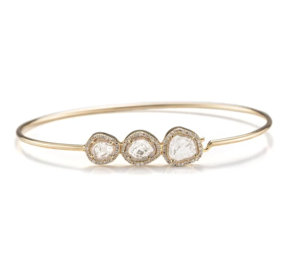Juniper Slice Diamond Bangle