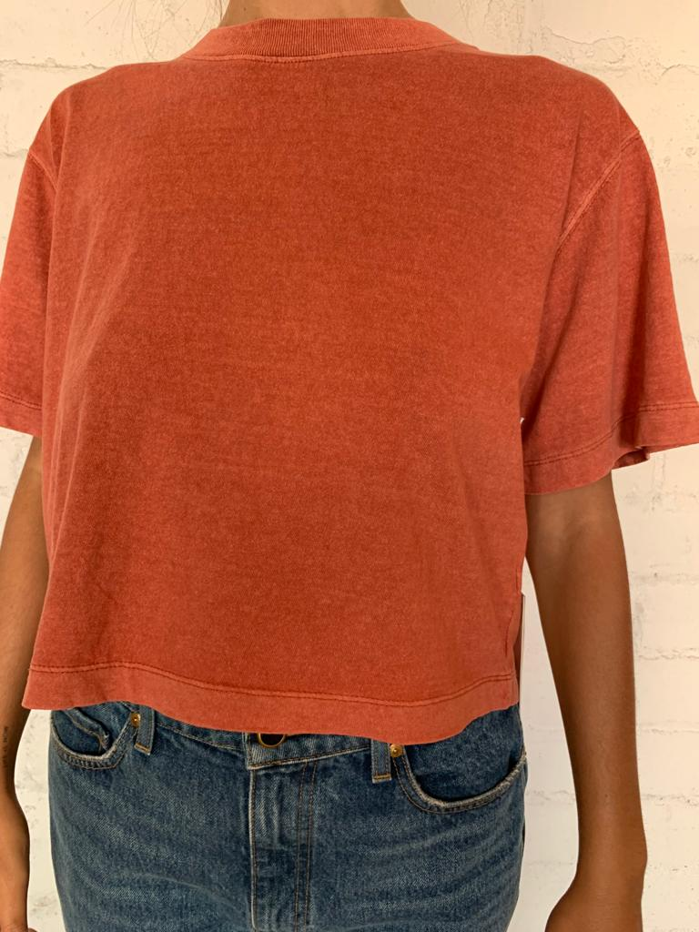 Summer Cinnamon Women's Relaxed Crop Tee