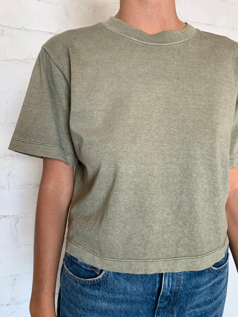 Surplus Green Women's Relaxed Crop Tee