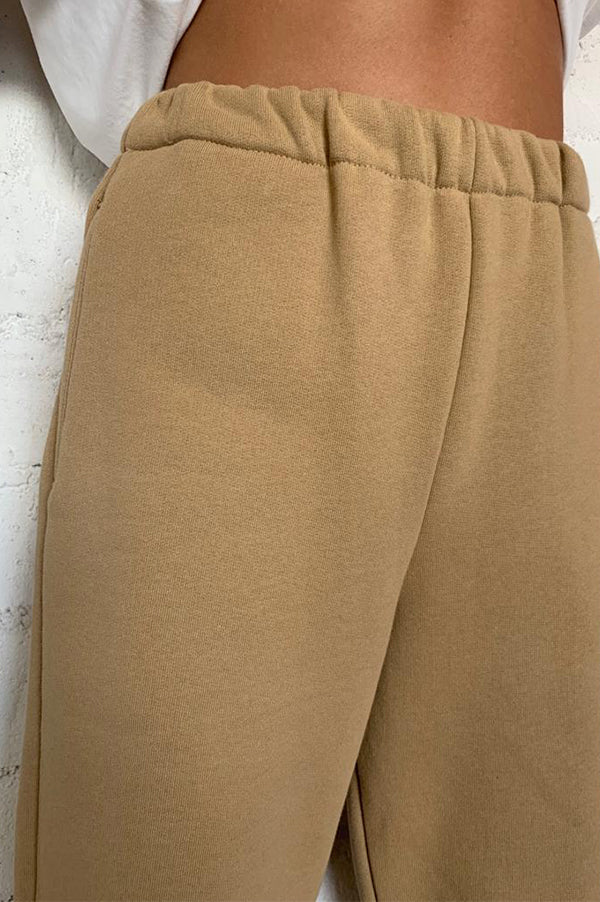 Camel High Waisted Sweatpants