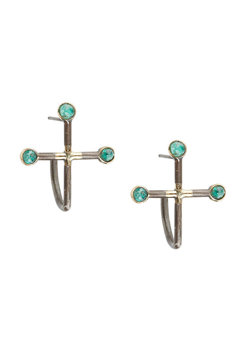Star Crossed Baby Emerald Earrings