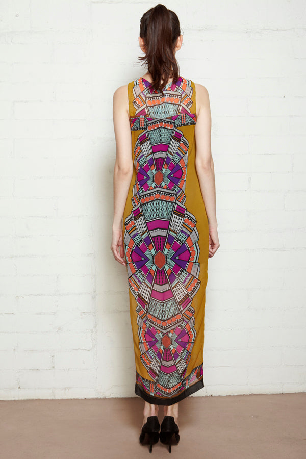Aztec Print Sleeveless Dress