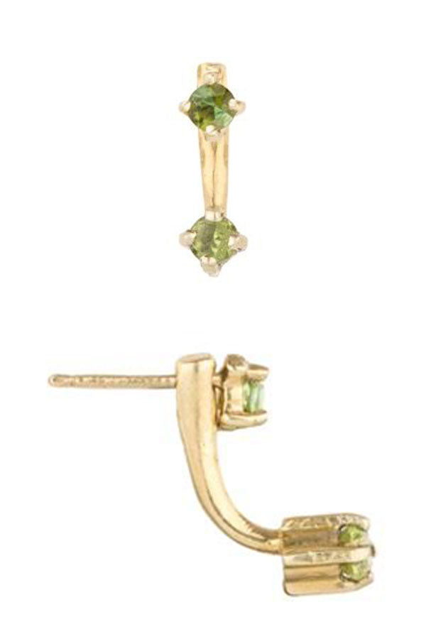 Baby Double Muse Peridot Earrings
