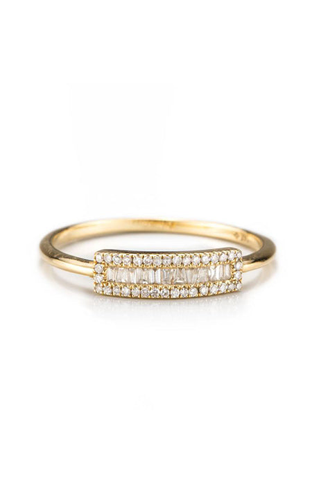 Baguette Petite Shield Ring