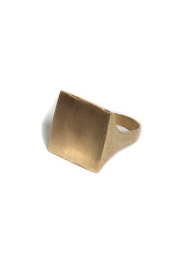 Monogram Square Signet Ring