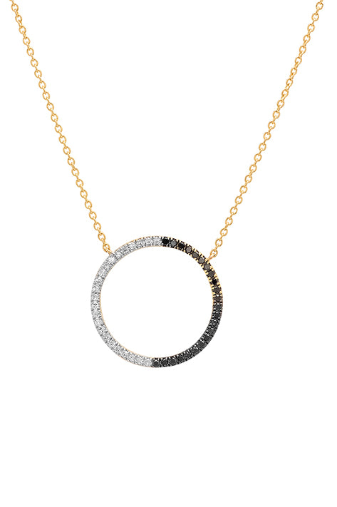 Black and White Diamond Eternity Necklace