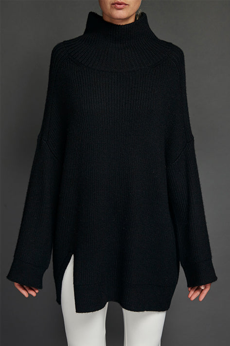 Black Celine Sunday Sweater
