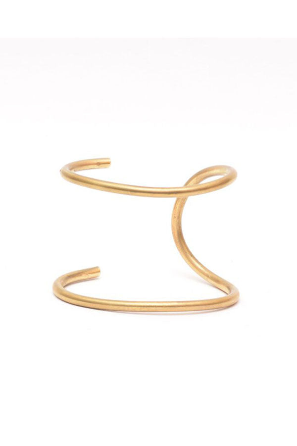 Brass Double Thin Cuff