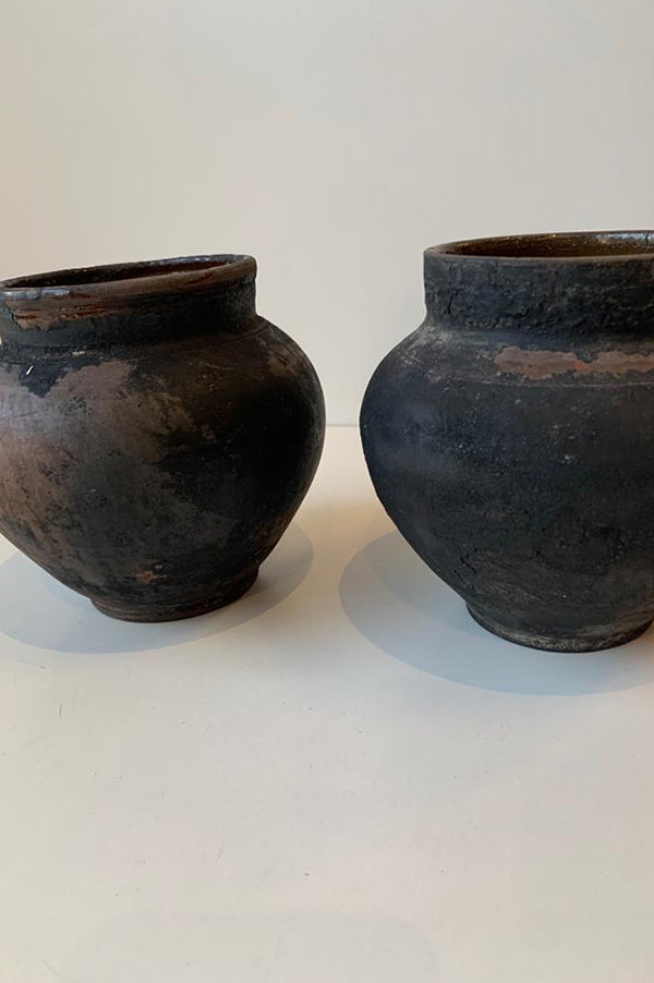 Antique Black Clay Vessel