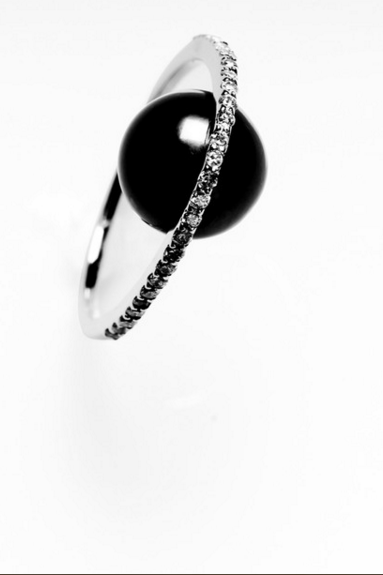 Diamond and Pearl Orbit Ring