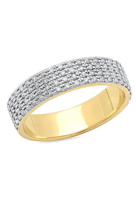 Diamond Cigar Band Pinky Ring