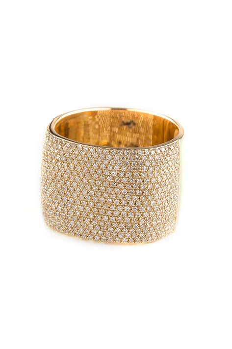 Eira Pave Cube Ring