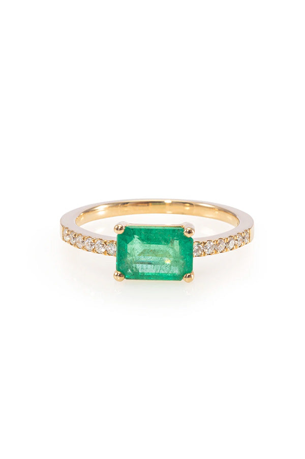 Emerald Cut Emerald Ring