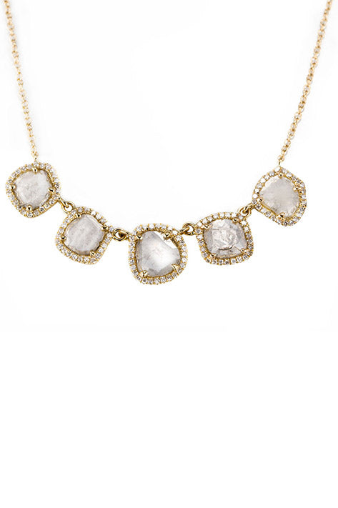 Fia 5 Slice Diamond Necklace