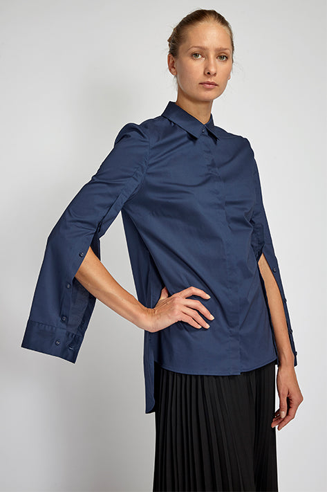 Hubert Optional Open Sleeve Button Down